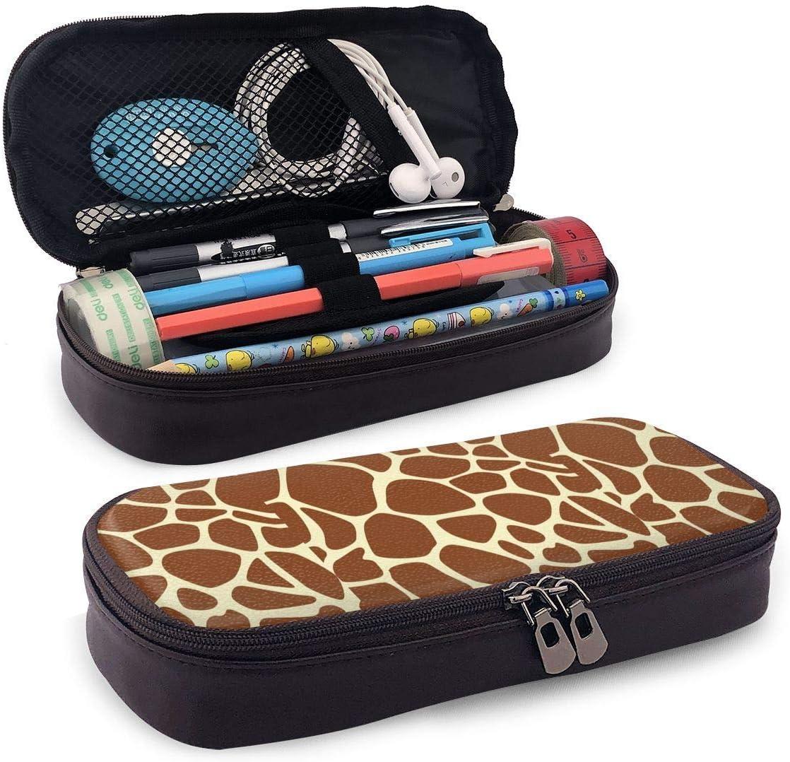 QiangQ Cello! Estuche de lápices de cuero Estuche portátil de viaje para estudiantes, niños, niñas y adultos