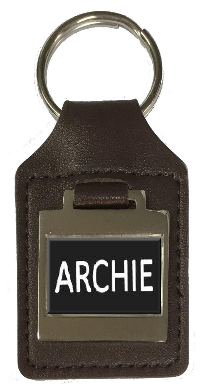 Leather Keyring Birthday Name Optional Engraving Archie