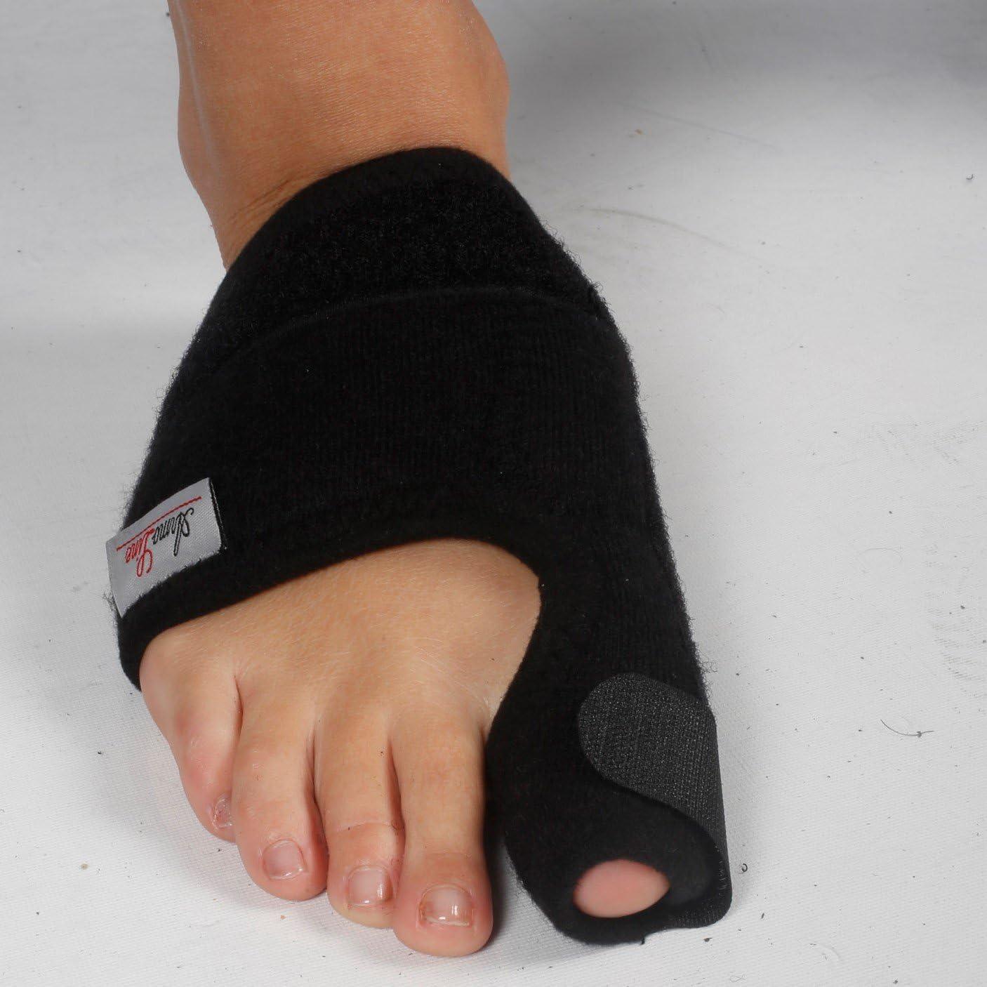 ArmoLine Hallux Valgus Ortesis - Férula de juanete - Férula Aparatos Enderezadores del dedo del pie con correa antideslizante Separador (Izquierdo)
