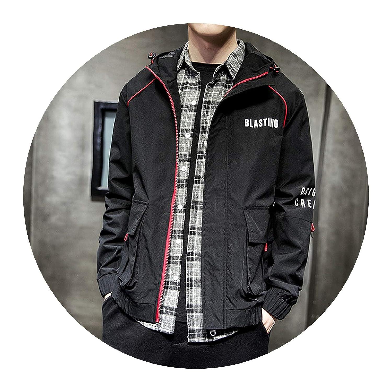 Zipper Bomber Jackets Streetwear Overcoat Baseball Mens Thin ...