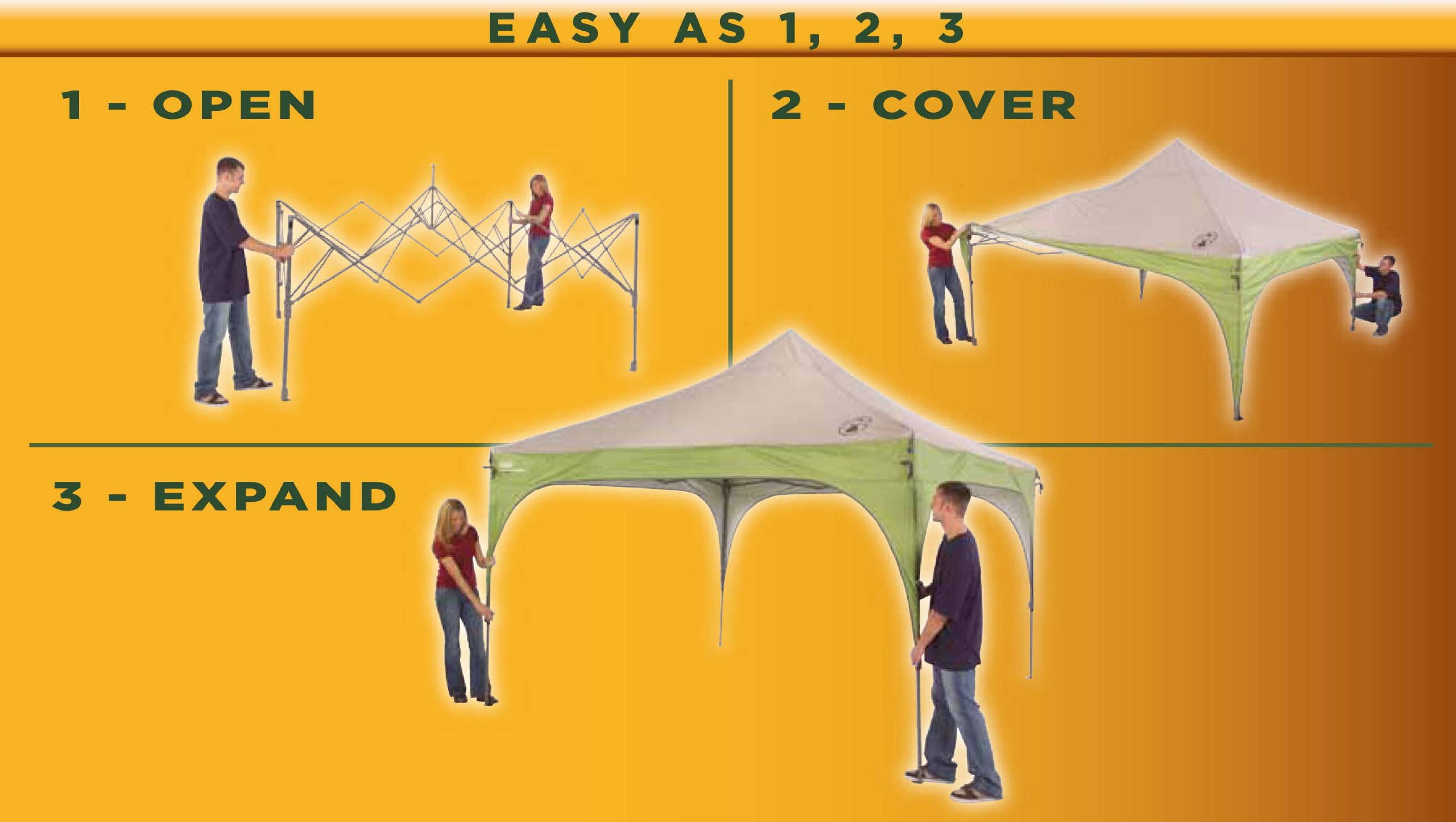 Coleman Instant Beach Canopy, 12 x 12 Feet by Coleman (Image #2)