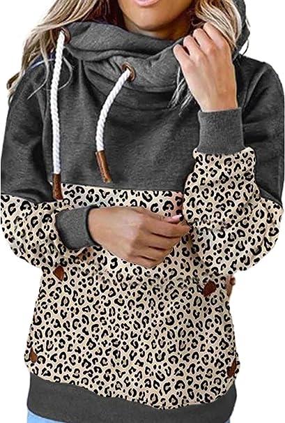 Diukia Womens Cute Color Block Half Zipper Hoodie Sweatshirt Long Sleeve Drawstring Pullover Tops with Kangaroo Pocket S-2XL