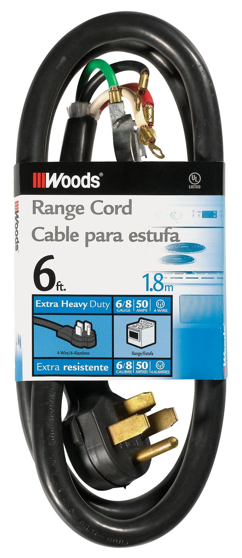 Woods 0762 6/2 8/2 SRDT 50-Amp Range and Dryer Appliance