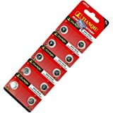 LR750 LR754 ボタン電池 10個セット アルカリ 電池 AG5 48LR 393A 互換品 バッテリー