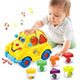 HOMOFY Musical Car Toy Fruit Shape Early Education Baby Toys 12-18 Months Fruit Shape Sorters Omni-Directional Wheel…