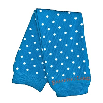 Bambino Land Leg Warmers Polka Dots (Celestial Blue)