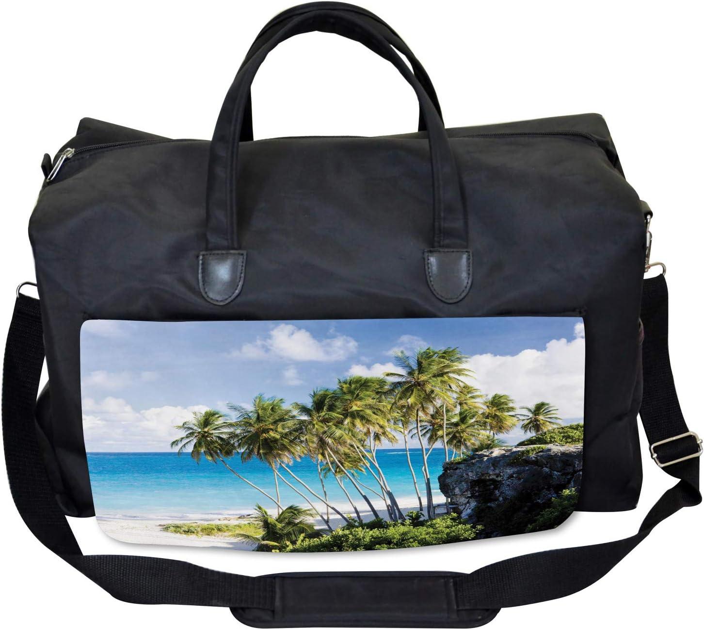 Large Weekender Carry-on Ocean Exotic Beach Ambesonne Tropical Gym Bag