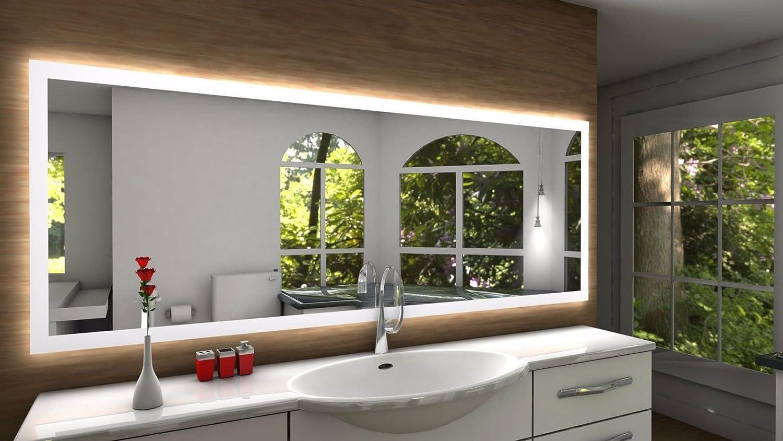 Badspiegel Designo SETE mit A++ LED Beleuchtung - (B) (B) (B) 100 cm x (H) 60 cm - Made in Germany - Technik 2019 Badezimmerspiegel Wandspiegel Lichtspiegel TIEFPREIS rundherum beleuchtet Bad Licht Spiegel 20d27c