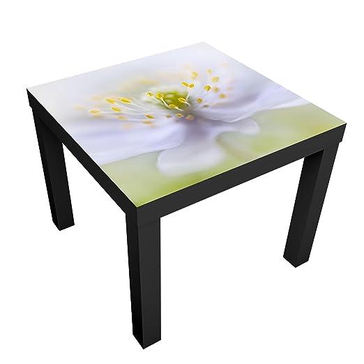 Bilderwelten Mesa de diseño - Anemones Beauty - 55x55x45cm, Mesa ...