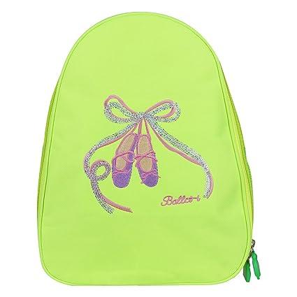 fedf2dd10ab3 FEESHOW Girls Kids Ballet Dance Backpack Shoes Embroidered School Shoulder  Bag