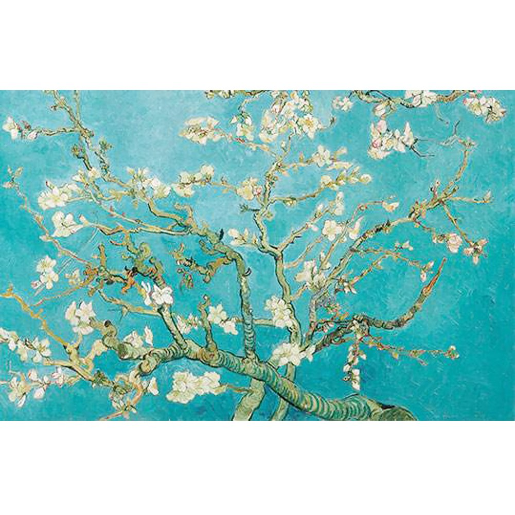 Waterproof Flower Wrapping Paper, Gift Wrap Color Tissue Paper 7.87''x 196.85'' per Roll,Van Gogh, A Flowering Apricot