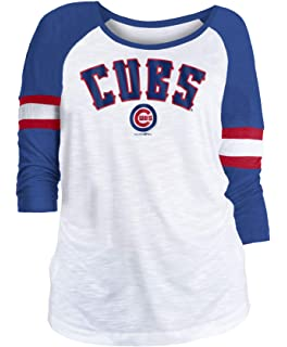 5ea5564d36b Amazon.com : New Era Chicago Cubs Ladies Slub Jersey 3/4 Sleeve ...