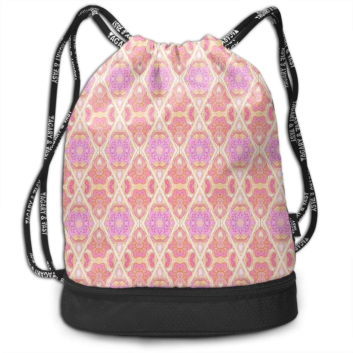 Wallflower Seranade Drawstring Backpack Sports Athletic Gym Cinch Sack String Storage Bags for Hiking Travel Beach