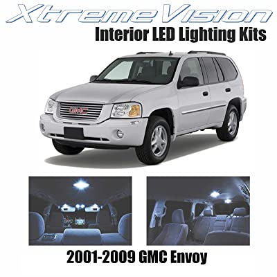 Xtremevision Interior LED for GMC Envoy 2001-2009 (9 Pieces) Cool White Interior LED Kit + Installation Tool: Automotive