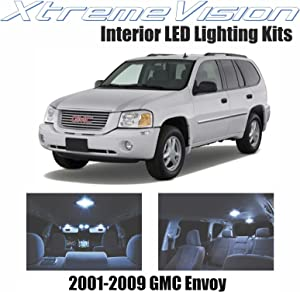 Xtremevision Interior LED for GMC Envoy 2001-2009 (9 Pieces) Cool White Interior LED Kit + Installation Tool