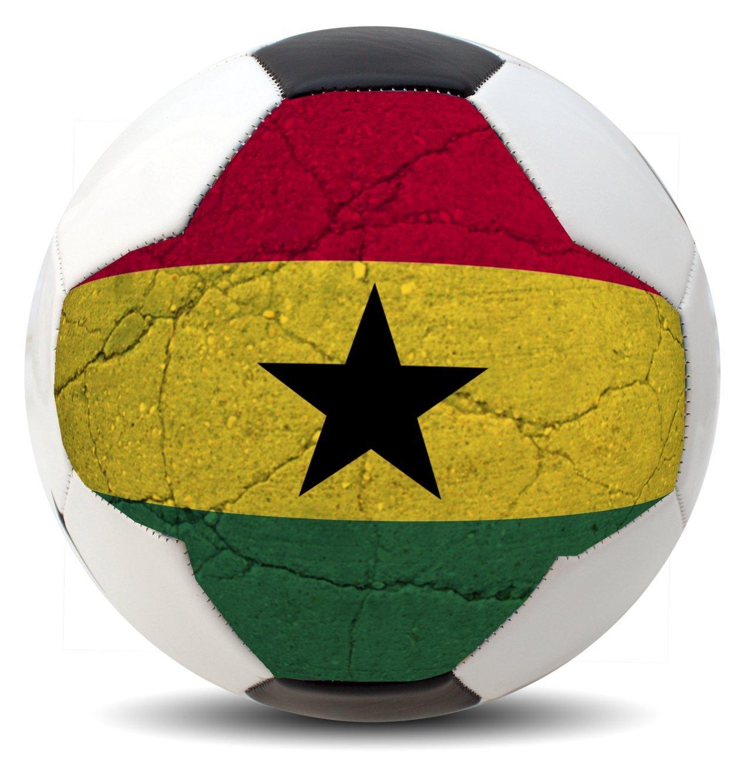 カスタマイズされた国コスタリカサッカーボール国際Copaワールドカップユーロリーグとアメリカのファン(アメリカ、ブラジル、メキシコ、ウルグアイ、アルゼンチン、チリ、コロンビア、、パナマ、スペイン、ドイツ、フランス、イギリス、ポルトガル、イタリア、オランダ、ベルギーand More ) B01GJVUIIW Ghana Ghana