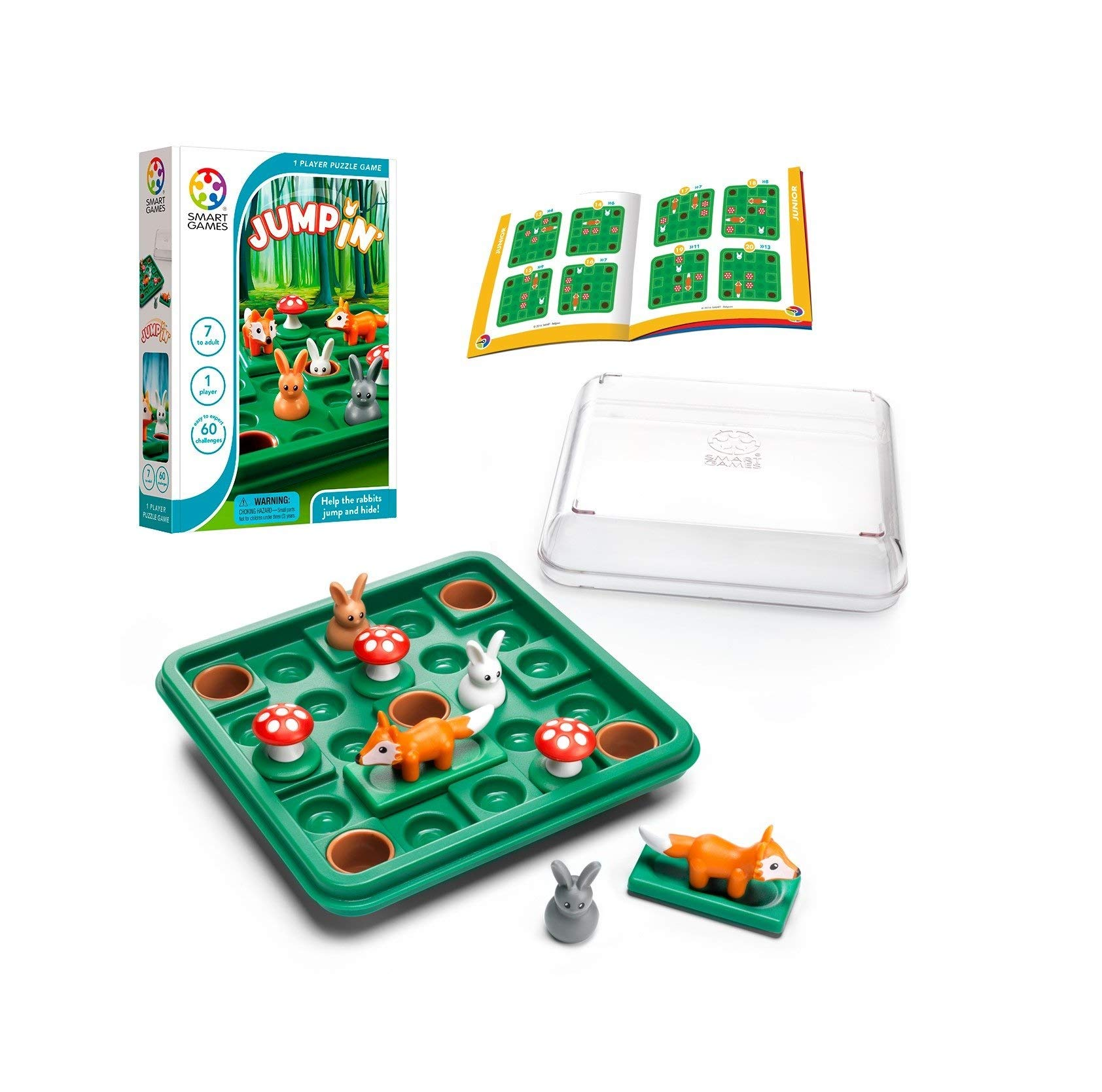 SmartGames Jump in', a Cognitive Skill-Building Travel Puzzle Game for Kids and Adults Ages 7 & Up, 60 Challenges in Travel-Friendly Case. by SmartGames