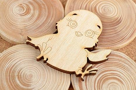 Hand made figura da dipingere legno vergine in miniatura figura
