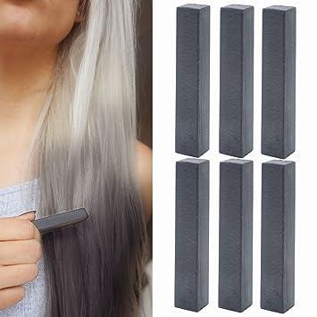 Buy Temporary Black Hair Dye | Jet Black Vibrant Hair Chalk | With ...