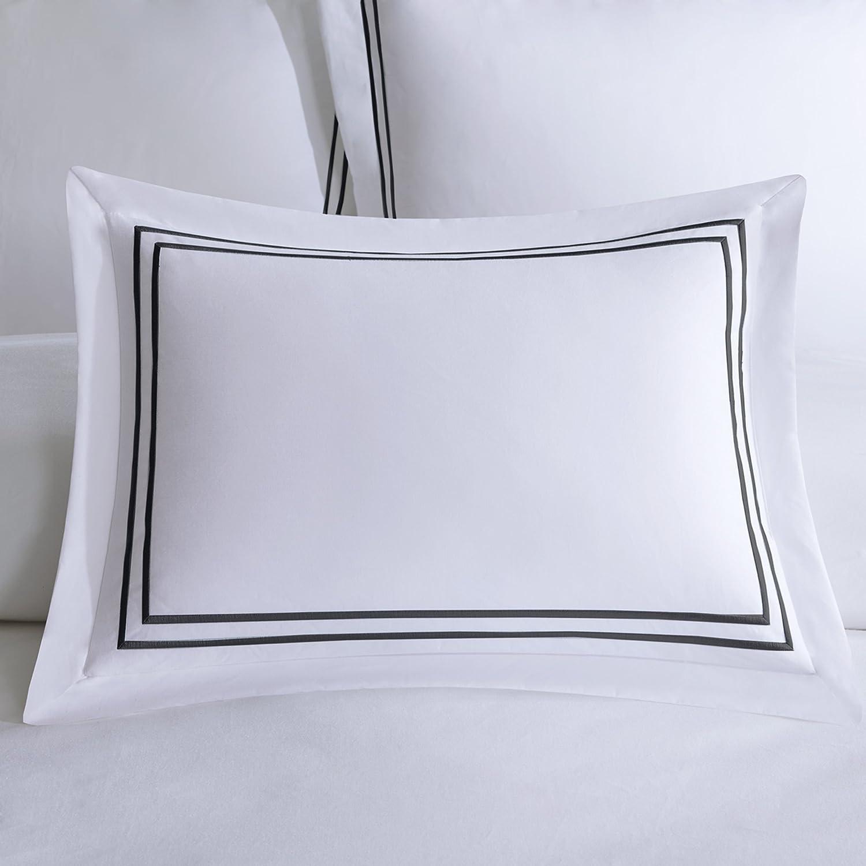 Madison Park Signature Down 1000-Thread Count Embroidered Cotton Comforter Set Aqua Full//Queen