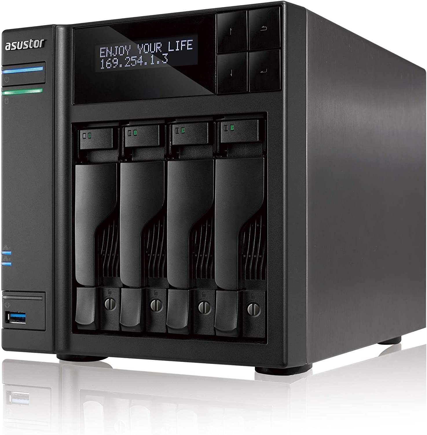 Asustor AS7004T-i5 | Enterprise Network Attached Storage | 3.0GHz Quad-Core, 8GB RAM | Personal Private Cloud | Home or Business Data Media Server (4 Bay Diskless)