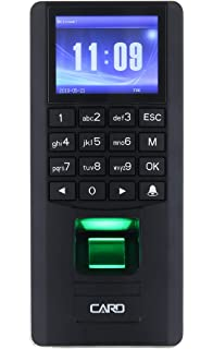 YATACH YT50 Indoor Access Control 3in1 and Employee Time Attendance Black Wiegand Fingerprint Biometric RFID Tag