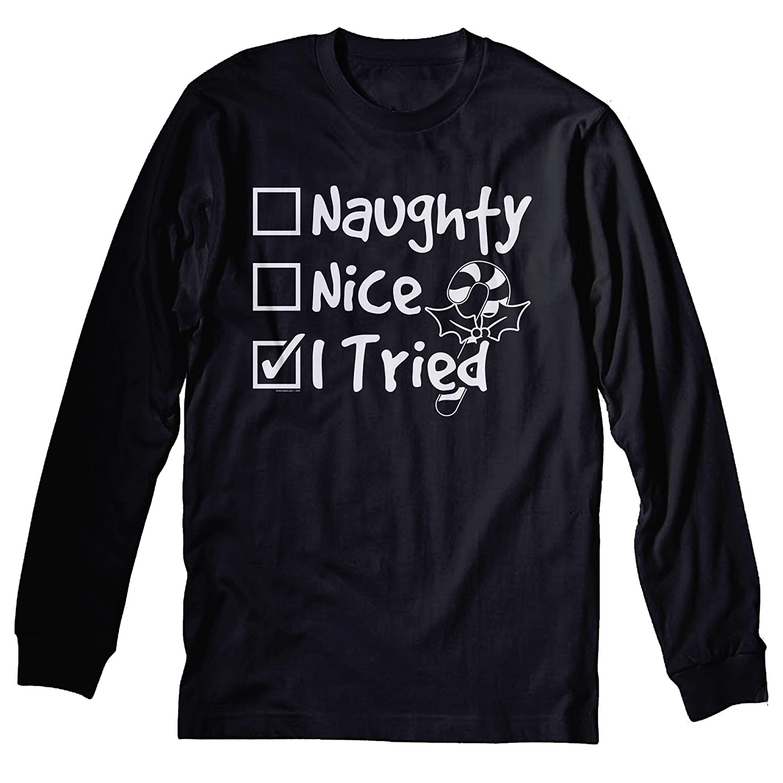 I'm on Santa's naughty list long sleeve shirt, Christmas adult shirt, long sleeve Christmas shirt, naughty list shirt, up to 5xl