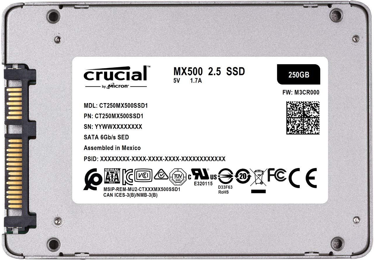 Crucial MX500 250GB 3D NAND SATA 2.5 Inch Internal SSD - CT250MX500SSD1(Z) Bundle with Crucial 8GB Kit (4GBx2) DDR3… 3