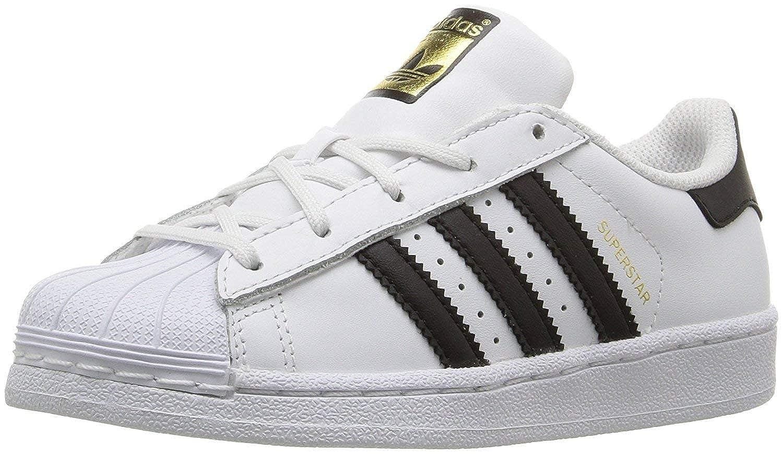 adidas superstar junior black and white size 4