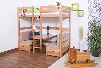 Hochbett Etagenbett Umbaubar : Kinderbett etagenbett funktionsbett tim umbaubar zu einem tisch