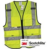 Salzmann 3M Multi Pocket Safety Vest Meets ANSI/ISEA107, 2XL/3XL+; New Size Chart from Dec.2017