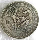 suiwoyou Hobo Coin 1921 Morgan Dollar Sexy Girl Hand Carved Creative Funny Coins Keychain Pendant