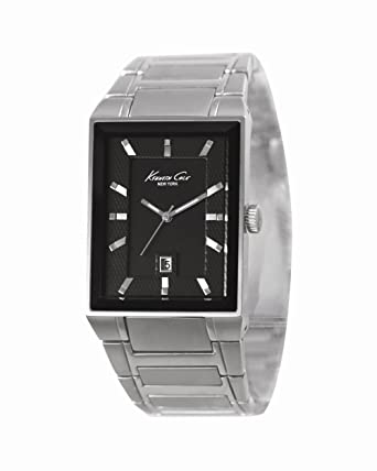 Kenneth Cole New York Mens Quartz Stainless Steel Dress Watch, Color:Silver-Toned