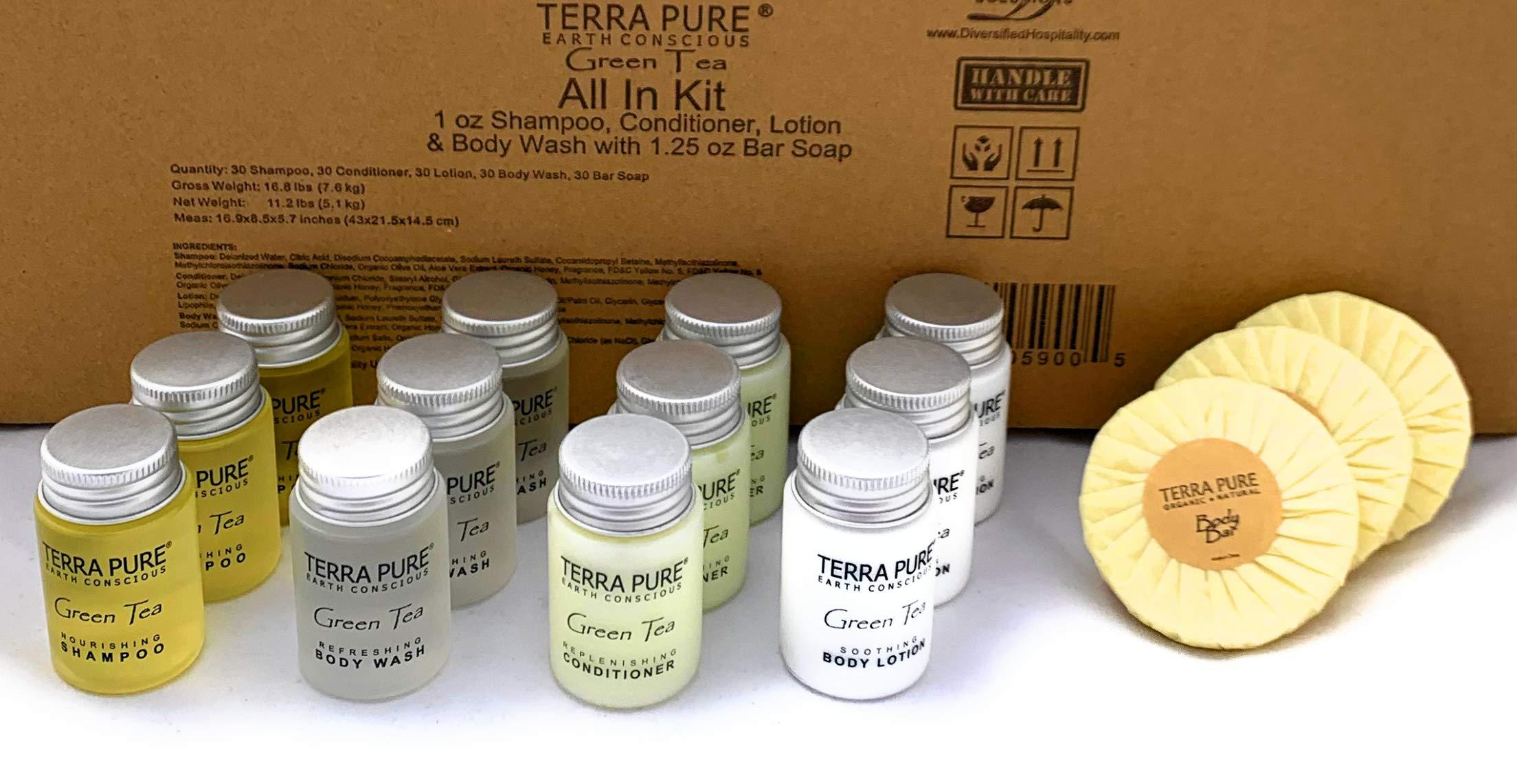 Terra Pure Green Tea All-In-Kit Hotel/Vacation Rental Amenities Set (300 pcs)