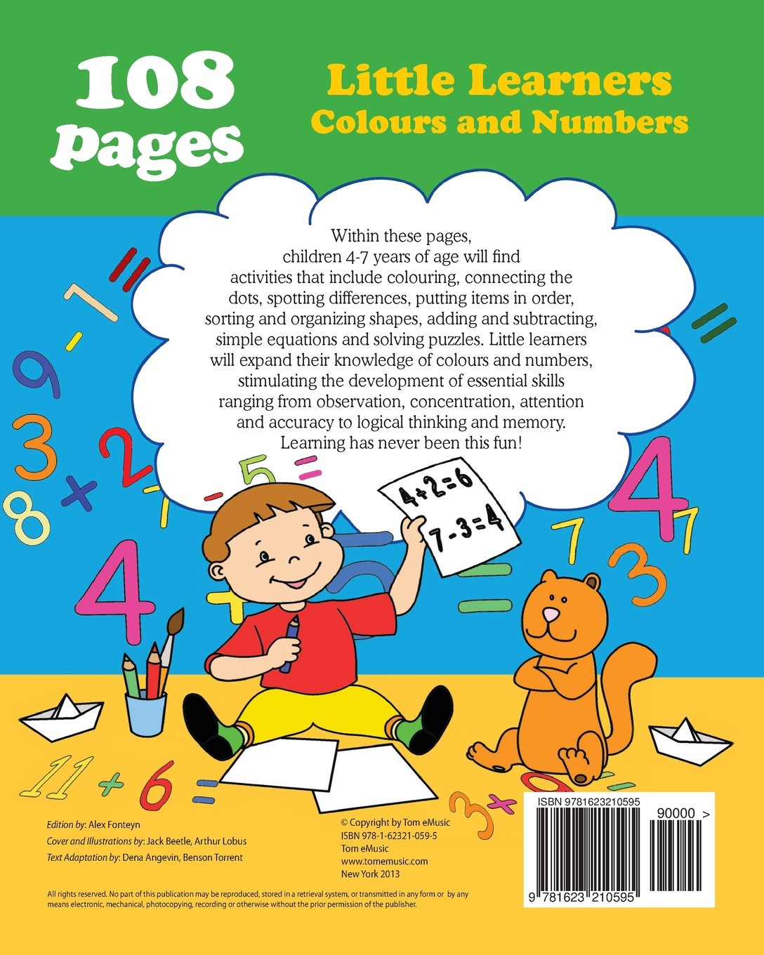 little learners colors and numbers coloring and activity book