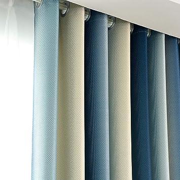 Reine Farbe Langsam Streifen Baumwolle Und Leinen Gardinen, Vorhänge ...
