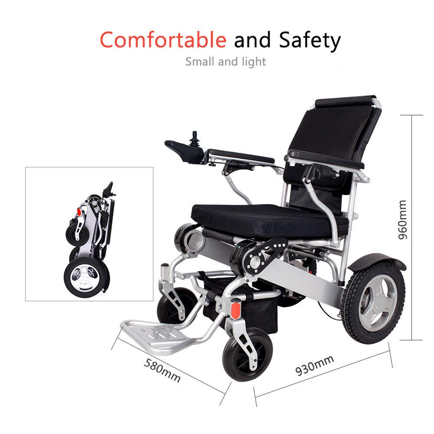 Amazon.com: Electric Wheelchair Folding Lightweight 60 lbs w/Battery Durable Supports 360 lbs Aircraft Grade Aluminum Alloy Frame More Strength New Upgraded ...