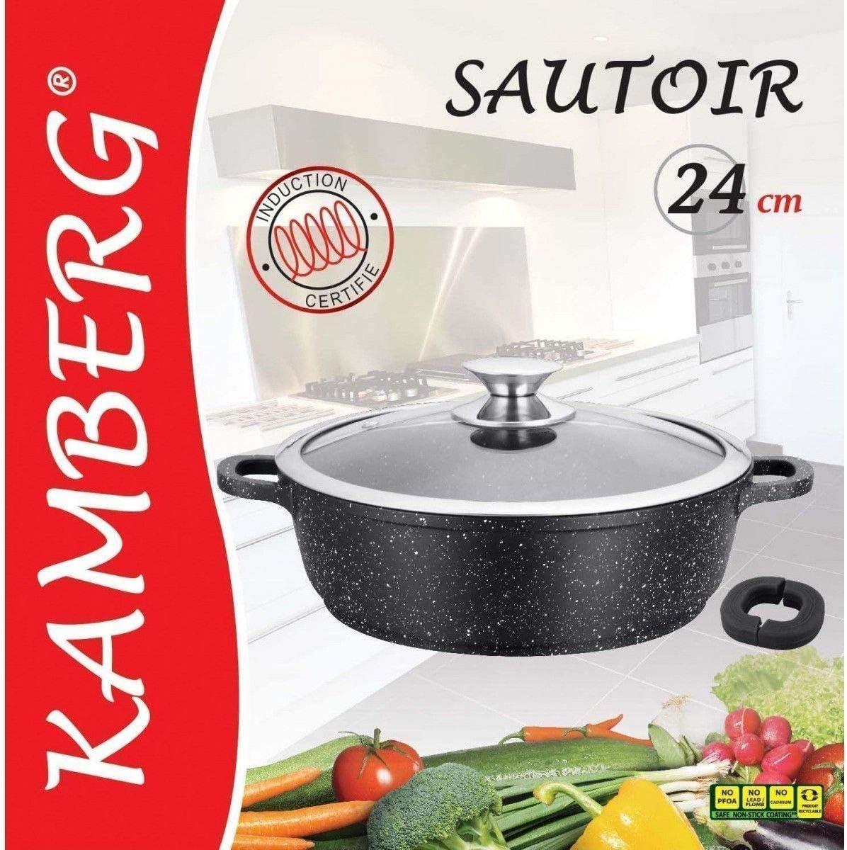 Kamberg 0008040 Olla Baja 24 cm Aluminio Fundido