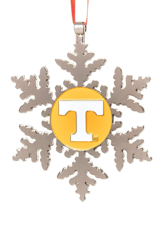 Collegiate Pulse University of Tennessee Volunteers NCAA Snowflake Christmas Ornament