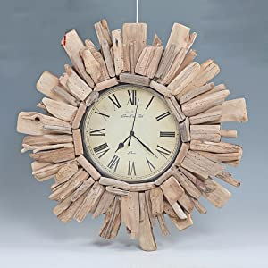 OLQMY-Luxury home decoration Driftwood clock, simple fashion wood clock, ultra-quiet modern living room personalized clock, hanging wall clock