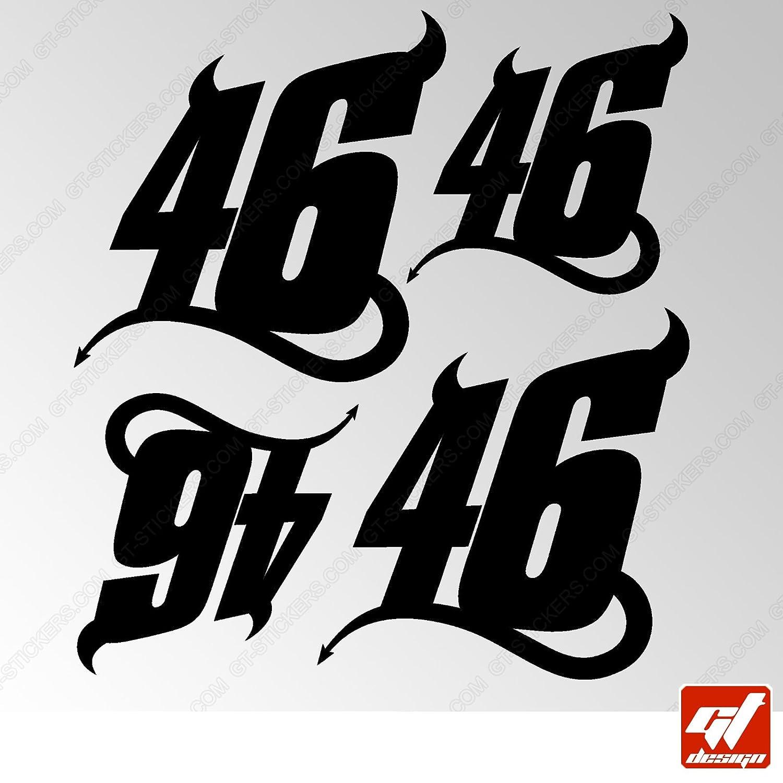 Bike GT Design Decal gt-design Brett 12/Sticker Aufkleber Akrapovic Auspuff Anlage/ Kit gtdesign Motorrad Tuning selbstklebend /Sticker Deco /Schwarz/ Decal