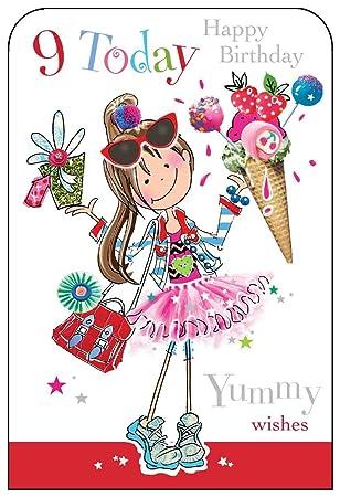 Jonny javelin girl age 9 happy birthday card amazon electronics jonny javelin girl age 9 happy birthday card bookmarktalkfo Gallery
