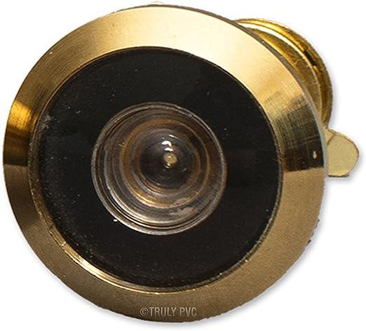 aka Judas ou Fits 35-55mm doors Visionneuse de porte Judas Laiton poli pour portes 20?35/mm ou 35?55/mm d/épaisseur quil a un angle 160//° et N/écessite un 12/mm Trou