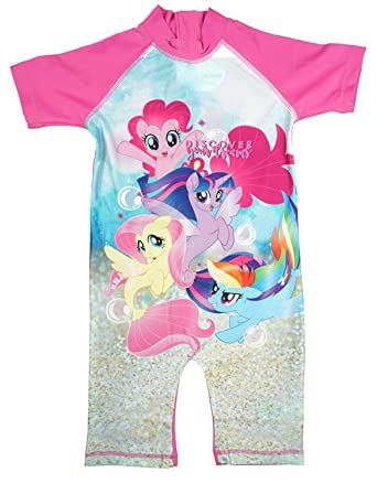 dff8529e1b Girls My Little Pony Sunsafe All In One Swimsuit Surf Swim Suit Sizes From  1.5 To 5 Years: Amazon.co.uk: Clothing