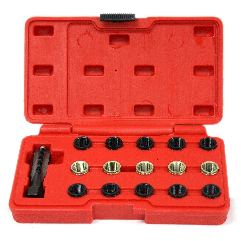 Spark Plug Tap Thread Repair Rethreading Set Kit M14 x 1.25 16pc