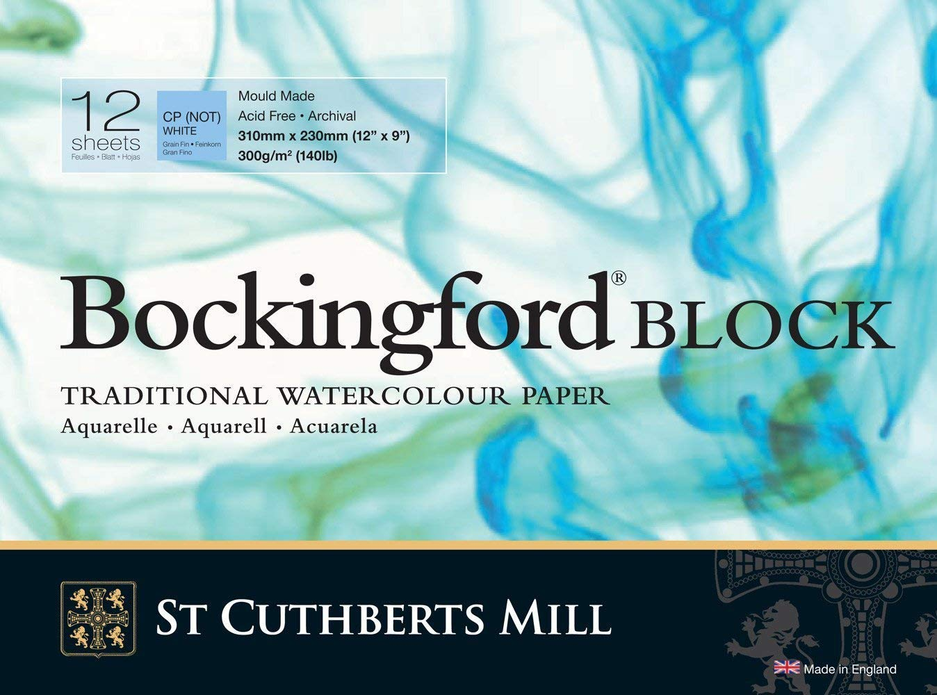 3 x Watercolour Block 140lb/300gms 9x12'/228x305mm Cold Press Bockingford