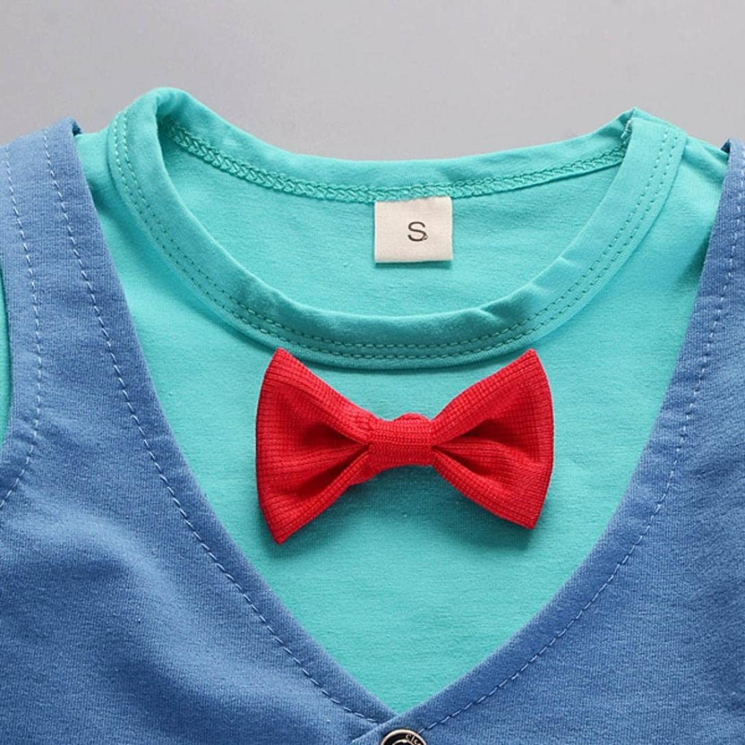 Blau, 80CM 12Monate 12 Monate-4Jahre Kinderbekleidung Krabbelhosen Bekeleideung Sommer Kleidung Neugeborene T-shirt Top Kurzarm Hosen Outfit Boy Kinder jungen Tops Hosen Bekleidungssets LMMVP