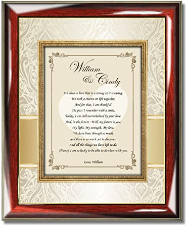 personalized poetry love gift wall picture frame anniversary birthday valentines day present romantic poem frame wife