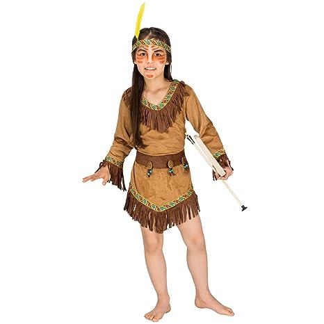 dressforfun 900122 - Disfraz de Niña India, Vestido de ...
