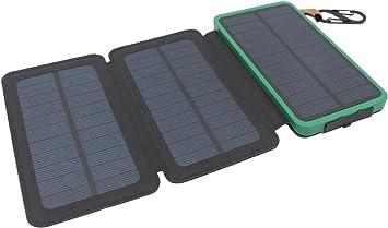 Itscool Cargador Solar Power Bank 1200mAh, 9 LED, 3 Paneles ...